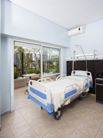 healthcare facilities: Modern bed in rehabilitation center