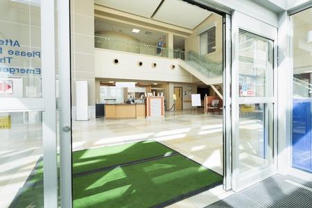 Door Mats At The Entrance Of Hospital