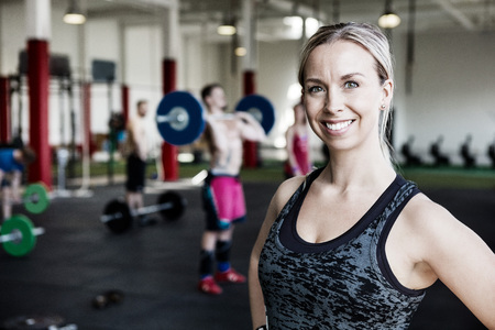 Woman Smiling In Gym