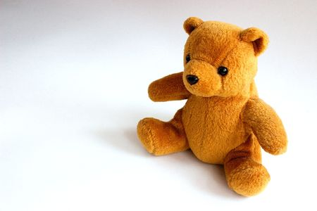 Cute Teddy sentado solo  Foto de archivo