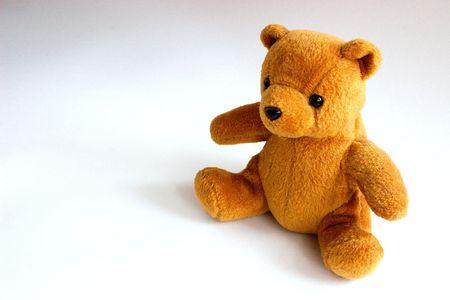 cute teddy sitting all alone