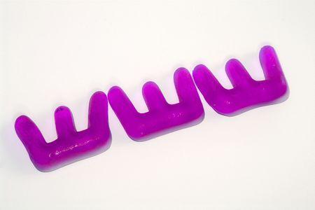 worldwideweb: www jelly sweets in purple