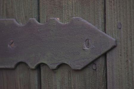 hinge: rustic looking door hinge