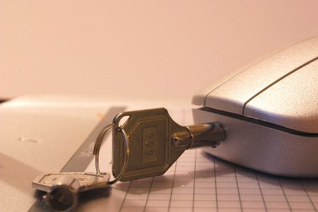 keepout: secure-it mouse locked with a key