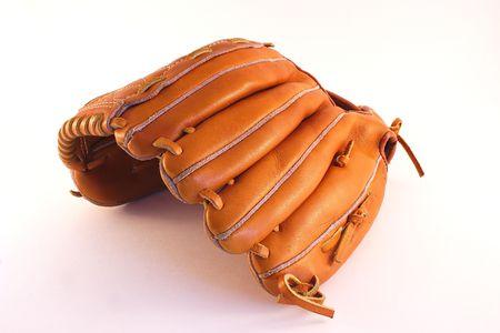 hardball: baseball glove upturned