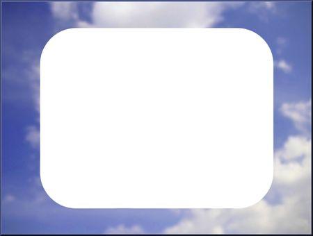 an overlay: superposici�n o imagen con un marco de una nube envolvente
