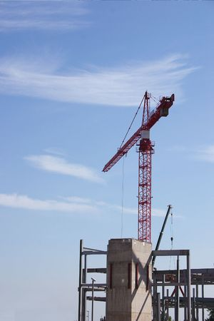 construction site crane against a blue sky Stock Photo - 320457