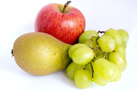 apple pear and grapes food for health photo