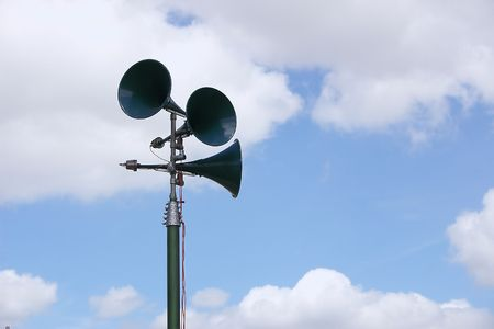 showground: tannoy system at a showground Stock Photo