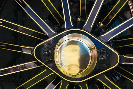 traction engine wheel details Stock Photo - 325862