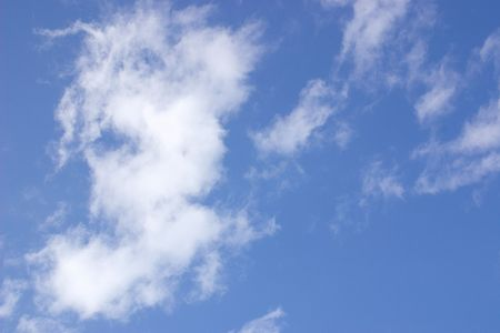 clouding: whispy clouds and blue sky