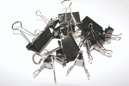 pile of binder clips Stock Photo - 327938