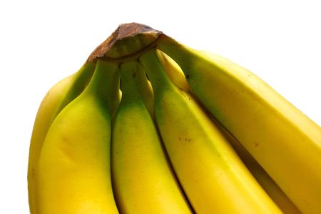bananas isolated over white