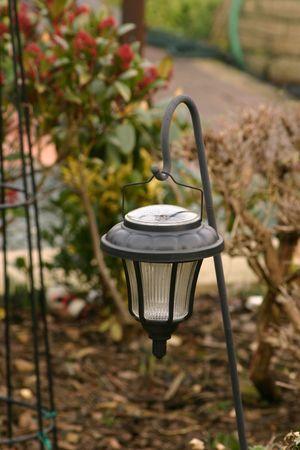 hedging: garden lantern with solar power