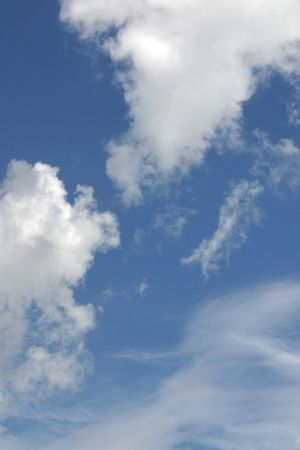 cottonwool: soft clouds against a blue sky