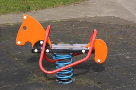 springy: childrens springy ride Stock Photo