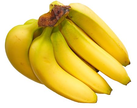 freshest: isolated bunch of bananas Stock Photo