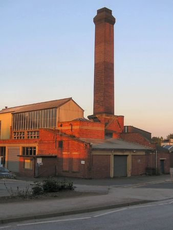 factory at sunset photo