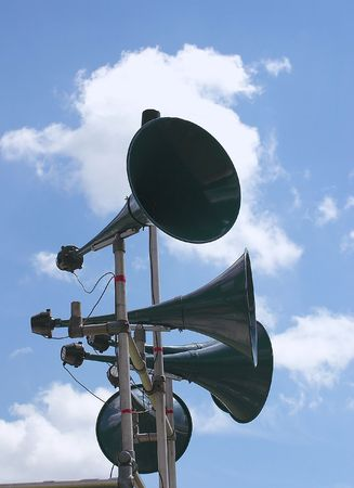 tannoy speakers against the sky photo