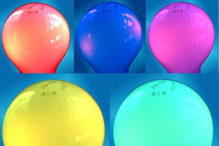 collage of light bulbs Stock Photo - 357932