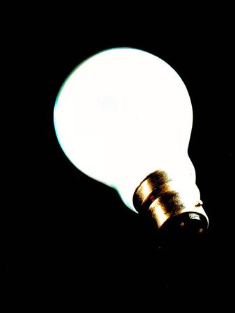 contrasty: very contrasty bulb isolated over black Stock Photo