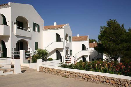 white building in menorca Stock Photo