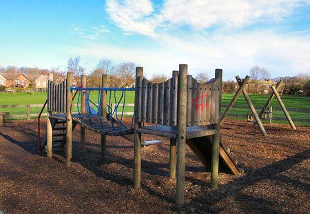 climbing frame: cornice di arrampicata su un parco
