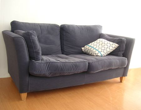 twoseater: old sofa Stock Photo