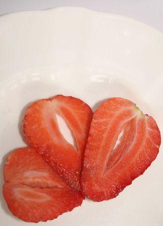 tast: sliced strawberries