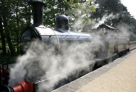 steam engine creating alot of steam around its base Stock Photo - 470385