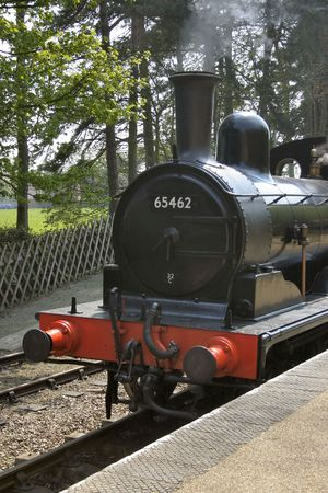 old steam train at a railway museum Stock Photo - 470386