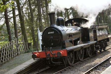 old steam train at a railway museum Stock Photo - 470387