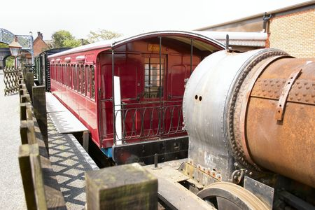 very old railway carriage restored Stock Photo - 494568