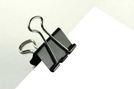 piece of notepaper in a bull clip photo