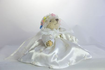 teddy dressed as a bride Stock Photo - 529724