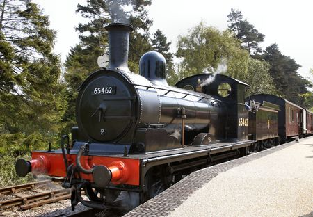 old steam train at a railway museum Stock Photo - 551712