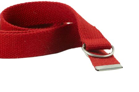 wadding: red wadding belt over white