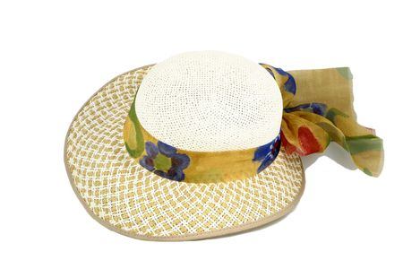 top view of a straw easter bonnet Stock Photo - 601403