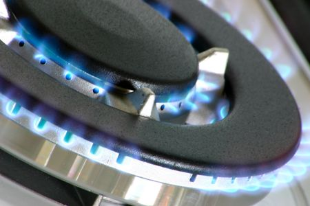 gas burner for a large pan or wok photo