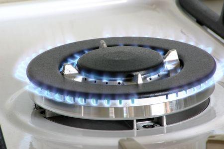br�leur � gaz pour une grande casserole ou au wok  Banque d'images - 685394