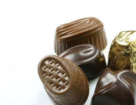dark and milk assorted chocolates photo
