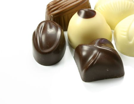 champagne truffles chocolate: dark and milk assorted chocolates