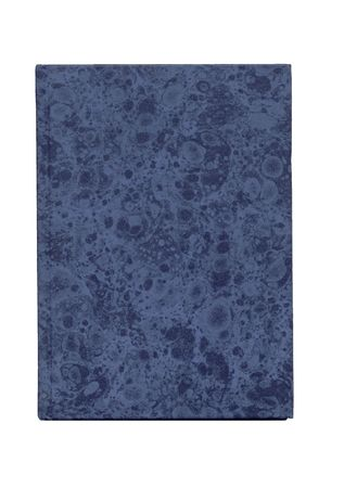 mottled: blue mottled covered book isolated Stock Photo