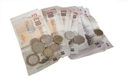 notes and coins of the english currency
