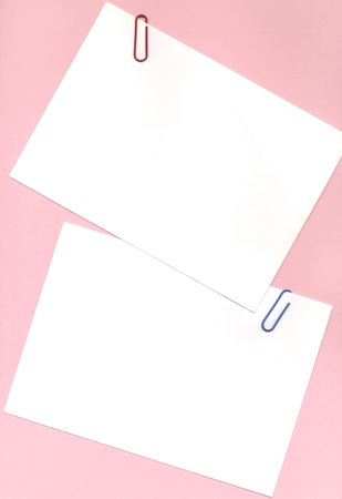 bulletinboard: two notes for memos Stock Photo