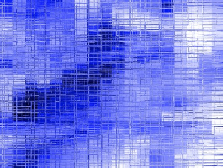 blue frosted glass in a irregular square designe