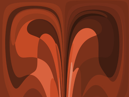 abstract brown retro style cube and curves image photo