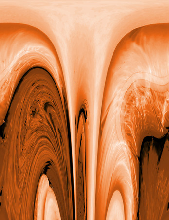 attern: flowing liquid background in shades of orange Stock Photo