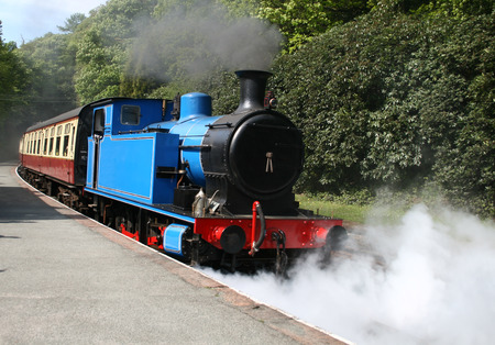 steam locomotive with steam and smoke Stock Photo - 1413158