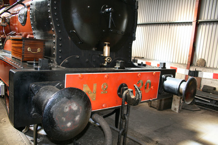details of the buffers on a train Stock Photo - 1413159